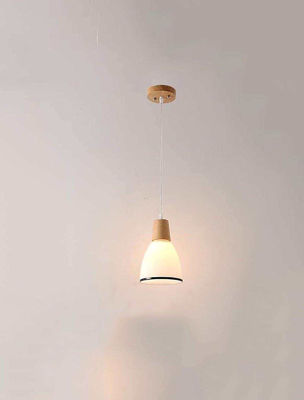 Oudan - Lumières de Plafond Nordic Restaurant Lustre en Bois Massif à Une tête Bar de la Chambre Restaurant Trois lustres Lustre en Bois (Couleur  lumière Chaude-3 têtes-1)