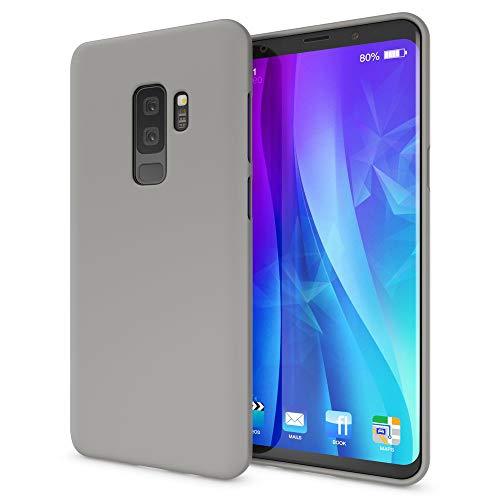 NALIA Handyhülle kompatibel mit Samsung Galaxy S9 Plus, Ultra-Slim TPU Silikon Neon Case, Dünnes Cover Gummi Schutzhülle Skin, Etui Handy-Tasche Backcover Smartphone Bumper, Farbe:Grau