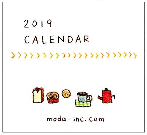 moda 2019年 カレンダー 卓上 ミニ おえかき CD-2616