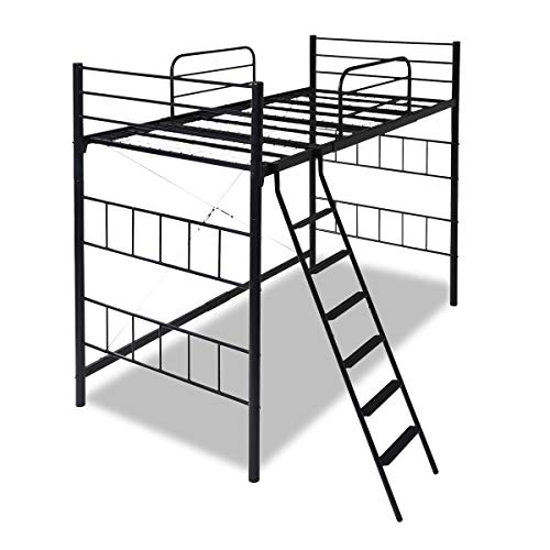 JKプラン ロフトベッド シングル ハイベッド 高さ180cm ベッド下 137cm パイプベッド ロフト式ベッド 頑丈 ...