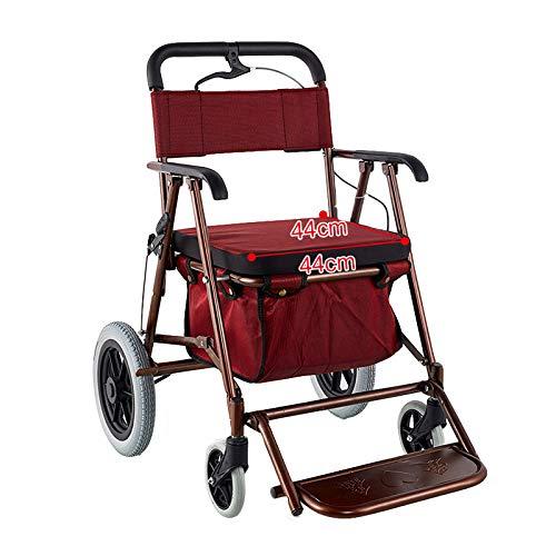 Amadon Faltbare Gehhilfen Mit Sitz- Und Rückenstütze, Transportstuhl Mobilitäts-Gehhilfe-Einkaufswagen Für Ältere Menschen Mit Behinderung Für Ältere Menschen,C