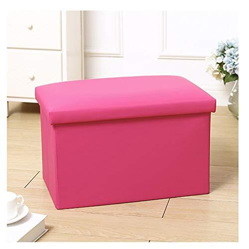 LAA Baúl Plegable Taburete De Almacenamiento, Taburete Plegable for Almacenaje, Asiento for Calzarse,Carga Máxima De 150 Kg Puff Taburete (Color : Pink)