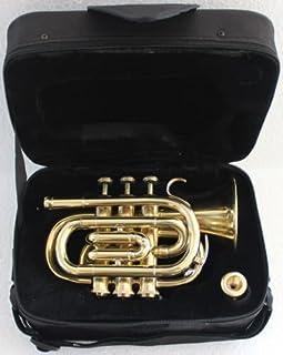 صدای جیب برنجی جیبی با کیفیت عالی Bb W / Case Mp Gold