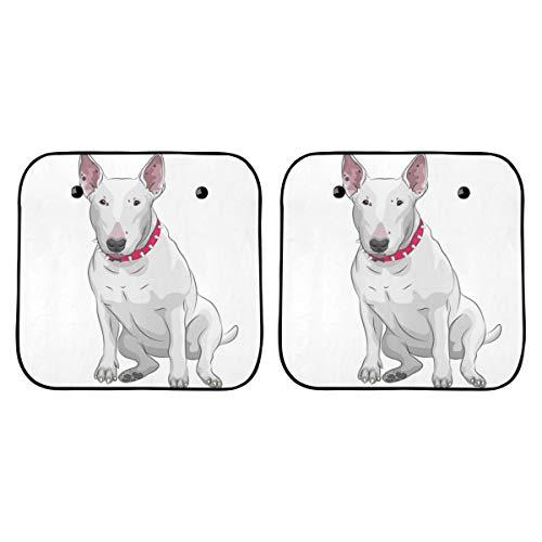 Parasol plegable para Suv Sonriendo Excelente Parasol plegable para perros Bull Terrier para autos Parasol plegable de 2 piezas para la mayoría de los vehículos deportivos utilitarios deportiv