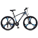 Bicicleta Montaña 27.5 Ruedas Bici De Montaña Daul Disc Disc Frenos 24/27 Speed mens Bicycle Front Suspension Mtb Adecuado Para Hombres Y Mujeres Entusiastas De Ciclismo(Size:27 Speed,Color:Azul)