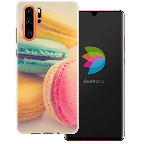 dessana Macarons transparente Schutzhülle Handy Case Cover Tasche für Huawei P30 Pro Bunte Kekse