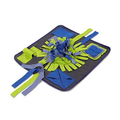Navaris Schnüffelteppich Spielzeug Suchteppich für Hunde - Schnupperteppich aus Polyester - Hundespielzeug Beschäftigung für Hund - waschbar
