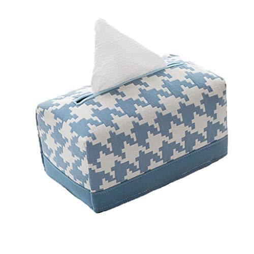 Papel dispensador Pata de gallo de escritorio tejido cuadro titular de tela suave paquete de algodón de lino rectangular de la servilleta de papel caja for el Ministerio del Interior Soporte de pañuel