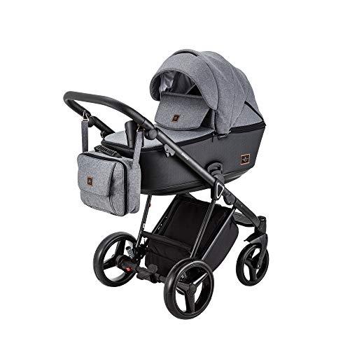 BeBe-Mobile 5902479590707 Kombikinderwagen 2in1 Kinderwagenset Babywanne Buggy Nanu NA240, grau