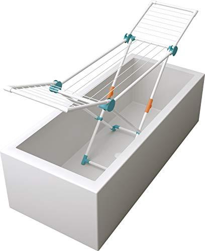 Juwel Superdry Mini Wäscheständer (mit Wäscheleinen, Trockenlänge 12 m, Farbe mint, platzsparend, für Single-Haushalte) 40103