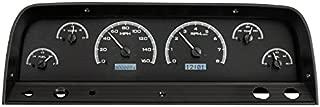 Dakota Digital 64 65 66 Chevy Pickup Truck VHX Analog Dash Gauges Black Alloy White VHX-64C-PU-K-W