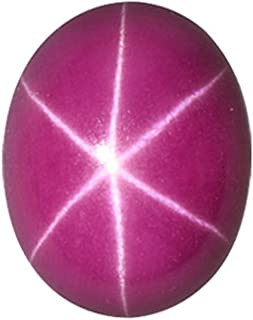 1.52-2.12 Cts of 8x6 mm Oval Cabochon Synthetic German Lab Created Ruby ( 1 pc ) Loose Gemstone