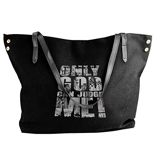 Only God Can Judge Me Women's Tote Bags Canvas Shoulder Bag Hanbag