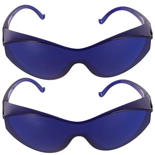 """HEALLILY 2Pcs Ipl á""""culos de Segurança á""""culos de Proteção Uv Eyewear Remoção de Pôlos Dos Olhos Azul"""