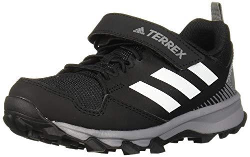 adidas outdoor Kids' Terrex Tracerocker CF Trail Running Shoe, Carbon/White/Black, 5 Child US Big Kid