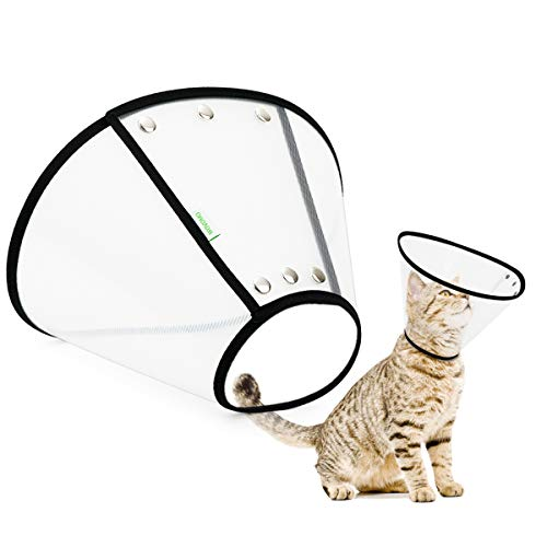 WOVOMO Lightweight Pet Recovery Cone, Adjustable Comfy Cat Cone Dog...