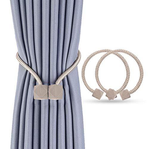Heatigo Magnetische Vorhang Raffhalter (2 Stück),Stilvoller Vorhanghalter Mit Starken Magnetischen Krawattenklammern, Geeignet für Heim- und Bürodekoration (Ouse)