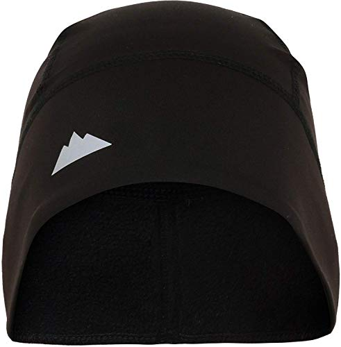 Skull Cap/Helmet Liner/Running Beanie - Ultimate Thermal Retention and Performance Moisture Wicking - Fits Under Helmets Black