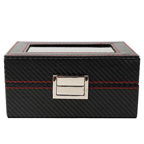 DAUERHAFT Caja de presentación de Reloj portátil 3Grids, Organizador de Estuche de Almacenamiento de Viaje portátil, con Cuero de PU de Bloqueo de Hardware de Lujo, Caja de Almacenamiento de Reloj