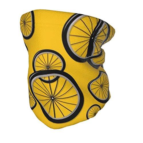 Bandana para niños, protección UV, para cuello, ruedas de bicicleta, color amarillo, lavable, reutilizable, para la cara, pasamontañas para pesca, senderismo, etc.