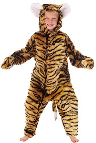 Garçons ou Filles Enfants pour Enfants de Luxe Tigre Combinaison Animal Costume Déguisement - Marron, 4-6 Years (116cms)