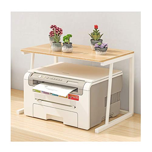 Estante con Soporte de Impresora Impresora Estante de Almacenamiento de Escritorio Estante sobre crecientes Soporte de Madera de la máquina de fax Soporte de Escritorio Organizador de hogar y Oficina