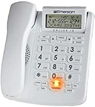 Emerson EM300WH Big Button Phone for Elderly Seniors Landline Corded Phone with Speakerphone (with Caller ID)