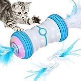 Iokheira Juguete para Gatos, 2021 El más Reciente Juguete para Gatos de Dos velocidades de rotación automática, USB Recargable y Luces LED de Colores.
