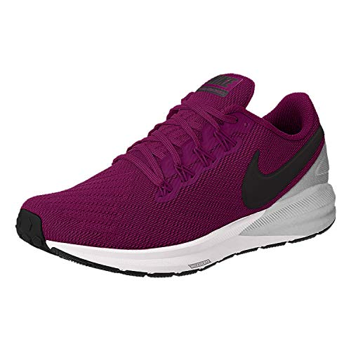 Nike Damen W AIR Zoom Structure 22 Traillaufschuhe, Mehrfarbig (True Berry/Black-Chrome-White 602), 40.5 EU