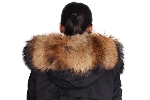 Collo in pelliccia femminile Dancel Raccoon Fur Natural Color 70cm*18cm