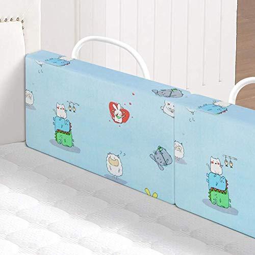 Dongbin Bettgitter Sicherheitsseitenpuffer Für Kleinkinder Oder Betten Für Erwachsene, Lassen Sie Ihre Kinder Sicher Und Bequem Schlafen, 2 Größen,Blau,60cm