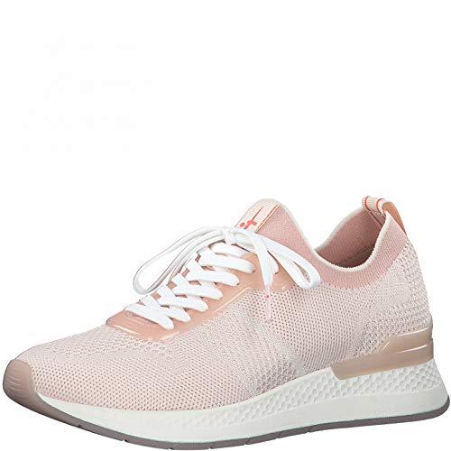 Tamaris Damen Low-Top Sneaker, Frauen Halbschuhe,lose Einlage,schnürer,Halbschuhe,straßenschuhe,Freizeitschuhe,keil,Wedge,Powder Comb,41 EU / 7.5 UK