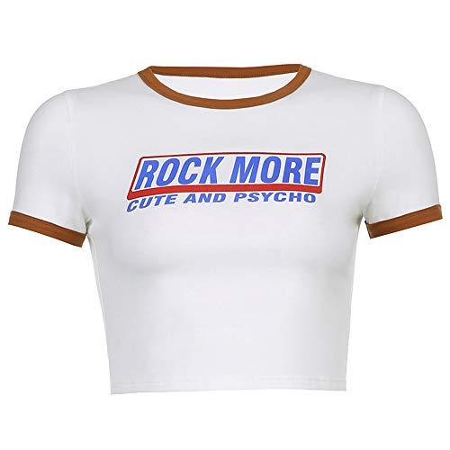 CHENGWANG Exposed Nabel Kurzarm T-Shirt Damen T-Shirt Atmungsaktiv Leicht Weich Freizeit Weich Slim Fit Büro Spandex Baumwolle für Outdoor Sommer Ausflüge Shoppen