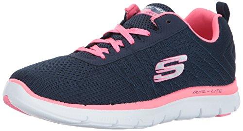 Skechers Flex Appeal 2.0 Break Free, Zapatillas de Deporte para Mujer, 36 EU, Azul (Blue (Nvhp))
