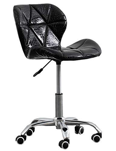 HYXI-Chair Silla giratoria de Oficina ejecutiva - Silla de Trabajo giratoria de Escritorio para computadora de Cuero regenerado Ejecutivo con función de Altura Ajustable, Cuero Negro