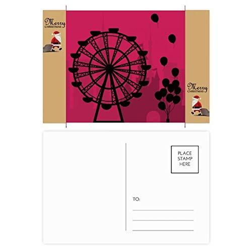 Ballon Ferris Wheel Amusement Park Kerstman Gift Ansichtkaart Thanks Card Versturen 20 stks