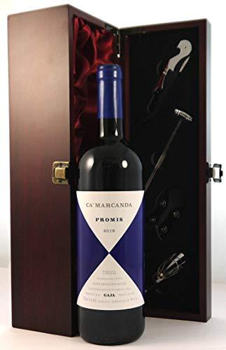 Camarcanda Promis 2018 Gaja en una caja de regalo forrada de seda con cuatro accesorios de vino, 1 x 750ml