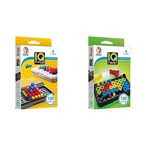 smart games SG455 IQ-Puzzler PRO, Geschicklichkeitsspiel, Reisespiel, Gehirntraining & SG 488 488-Spiel IQ Twist