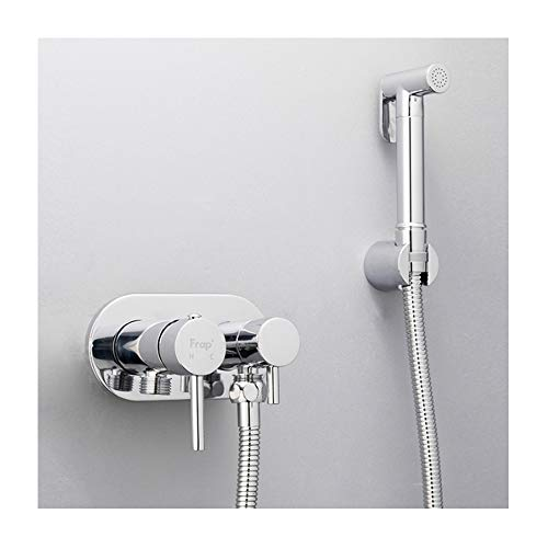 Best Bargain TANGAN Silver Hand Held Bidet Sprayer Single Handle Sprayer Kit Wall Mounted Bathroom C...