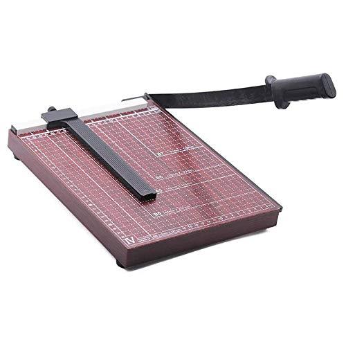 Mefeny Cortador de papel A4 de 30,5 cm de longitud de corte resistente fotográfico, cortador de película guillotina roja