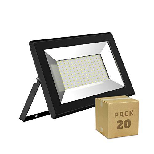LEDKIA LIGHTING Pack Projecteur LED Solid 50W (20un) Blanc Chaud 3000K