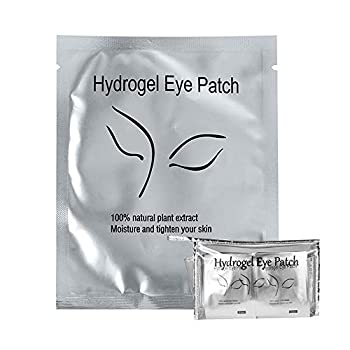 100Pairs Under Eye Eyelash Extension Gel Patches Kit Lint Free Eye Mask Pads Lash Extension Beauty Tool with Transparent Cosmetic Bag