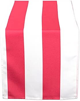 DII Coral Cabana Stripe Outdoor Table Runner, 14x72
