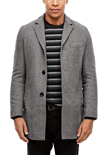 s.Oliver Herren Wattierter Wollmix-Mantel grey 3XL
