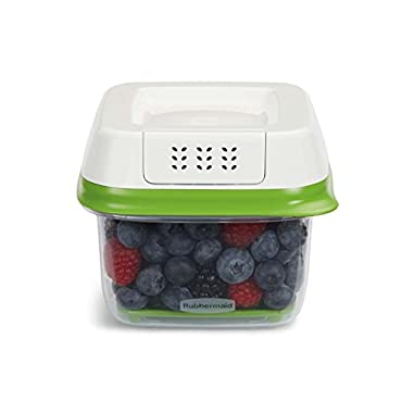 Rubbermaid FreshWorks Produce Saver Food Storage Container, Small, 2.5 Cup, Green