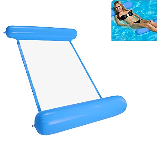 MOPOIN Cama hinchable para piscina 4 en 1, sillón de lounge para adultos y niños, color azul