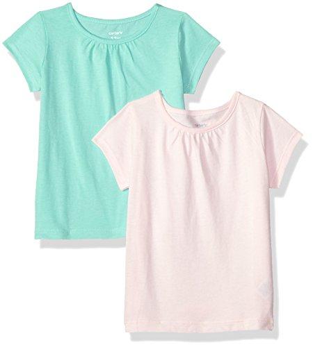 Carter's Baby Girls' 2-Pack Tees, Light Pink/Mint, 9 Months