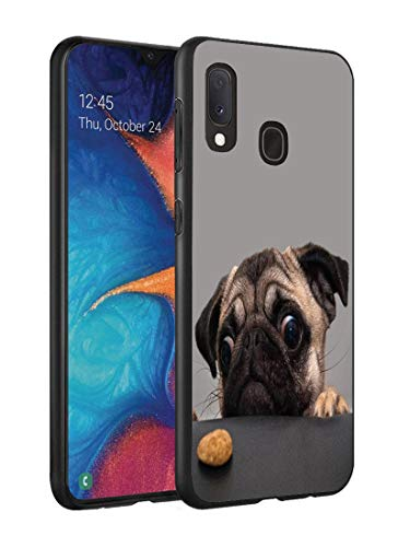 Galaxy A20 Case, Galaxy A30 Case, Slim Impact Resistant Shock-Absorption Silicone Protective Case Cover for Samsung Galaxy A20 (2019) / A30 (2019) - Cute Pug