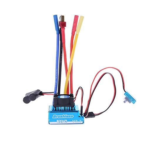 GROOMY Controller, Wasserdicht 45A 60A 80A 120A Brushless ESC Elektrischer Geschwindigkeitsregler Staubdicht für 1/8 1/10 1/12 RC Car Crawler RC Boot Teil-60A