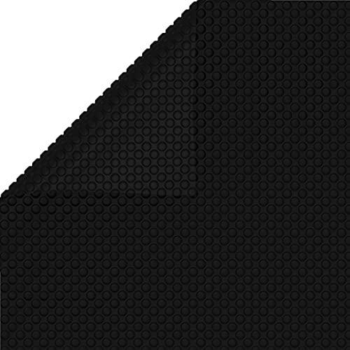 vidaXL Poolabdeckung Pool Abdeckplane Abdeckung Plane Wärmeplane Solarplane Solarabdeckung Solarfolie Solarheizung Poolheizung Schwarz 300x200cm PE